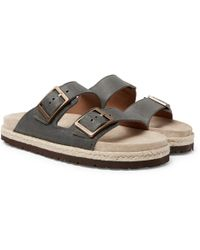 862d8c6d6026 Brunello Cucinelli - Full-grain Leather Sandals - Lyst