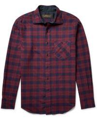 Freemans Sporting Club - Hopkins Checked Cotton-flannel Shirt - Lyst