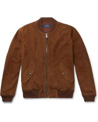 Polo Ralph Lauren - Slim-fit Suede Bomber Jacket - Lyst