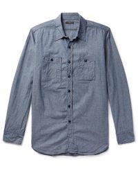 Engineered Garments - Cotton-chambray Shirt - Lyst