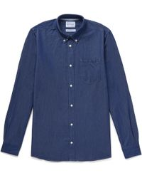 Norse Projects - Anton Button-down Collar Denim Shirt - Lyst