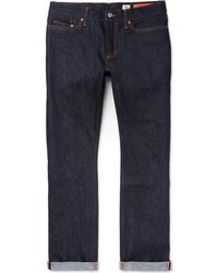Jean Shop - Bowie Slim-fit Raw Selvedge Denim Jeans - Lyst