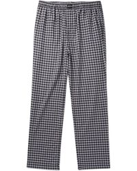 Balenciaga - Wide-leg Checked Cotton Drawstring Trousers - Lyst