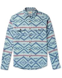 Faherty Brand - Belmar Printed Brushed Cotton-jacquard Shirt - Lyst