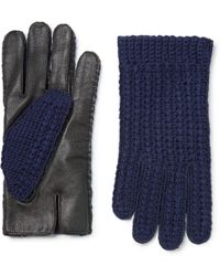 Oliver Spencer - + Monocle Wool-blend And Leather Gloves - Lyst