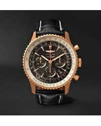 Breitling - Navitimer 1 Chronometer 46mm 18-karat Red Gold And Crocodile Watch - Lyst