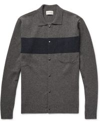 Oliver Spencer - Roxwell Striped Wool Cardigan - Lyst