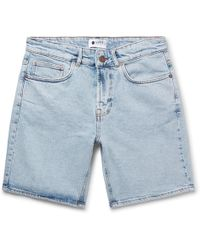 NN07 - Slim-fit Washed Stretch-denim Shorts - Lyst