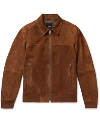 Theory - Noland Slim-fit Suede Jacket - Lyst