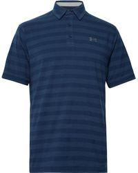 Under Armour - Scramble Striped Charged Cotton-blend Polo Shirt - Lyst