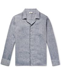 Sleepy Jones - Henry Slub Linen Pyjama Shirt - Lyst