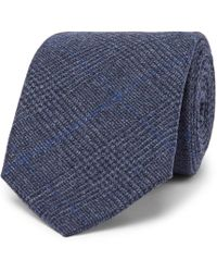 Kingsman - + Drake's 8cm Prince Of Wales Checked Wool Tie - Lyst