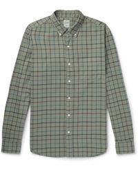 J.Crew | Aiden Slim-fit Button-down Collar Checked Cotton Oxford Shirt | Lyst