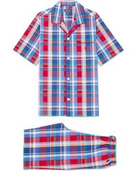 Polo Ralph Lauren - Checked Cotton-poplin Pyjama Set - Lyst