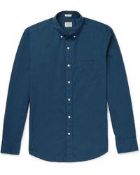 J.Crew - Garment-dyed Stretch-cotton Poplin Shirt - Lyst