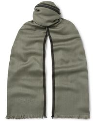 Tom Ford - Logo-embroidered Cashmere, Silk And Wool-blend Twill Scarf - Lyst