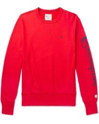 Todd Snyder - Champion Graphic Sleeve Sweatshirt In Red - Lyst