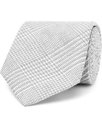 Hackett | 8cm Prince Of Wales Checked Cotton And Silk-blend Tie | Lyst