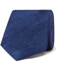 Kingsman - 8cm Herringbone Slub Silk Tie - Lyst