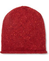 Inis Meáin - Donegal Merino Wool And Cashmere-blend Beanie - Lyst