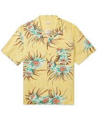 You As - Orion Camp-collar Printed Woven Shirt - Lyst