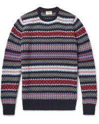William Lockie - Edward Fair Isle Cashmere Sweater - Lyst