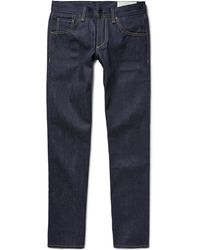 Rag & Bone - Two Straight-leg Raw Selvedge Denim Jeans - Lyst
