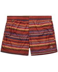 Missoni - Mid-length Printed Swim Shorts - Lyst