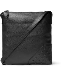 Tod's - Reporter Gommini Full-grain Leather Messenger Bag - Lyst