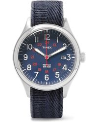 Timex - Waterbury United Stainless Steel And Stonewashed-canvas Watch - Lyst