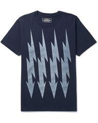 Neighborhood - Printed Cotton-jersey T-shirt - Lyst