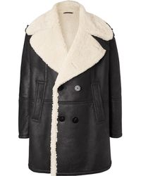 Neil Barrett - Double-breasted Shearling Coat - Lyst