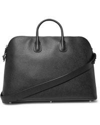 Valextra - My Logo Pebble-grain Leather Holdall - Lyst
