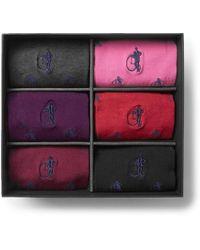 London Sock Co. - Home Six-pack Stretch Cotton-blend Socks - Lyst