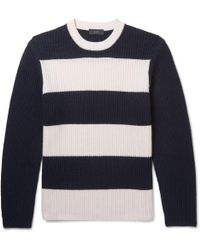 Joseph | Striped Ribbed Cashmere Jumper | Lyst