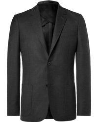 MR P. - Grey Unstructured Worsted Wool Blazer - Lyst
