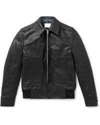 Sandro - Leather Blouson Jacket - Lyst