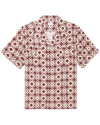 You As - Arlo Camp-collar Printed Twill Shirt - Lyst