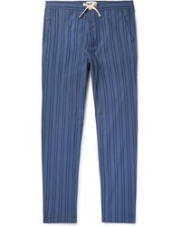 Oliver Spencer - Medway Striped Organic Cotton Pyjama Trousers - Lyst