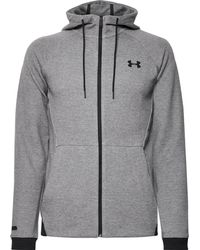 Under Armour - Unstoppable Mélange Cotton-blend Jersey Zip-up Hoodie - Lyst