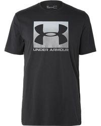 Under Armour - Heatgear Printed Cotton-blend Jersey T-shirt - Lyst