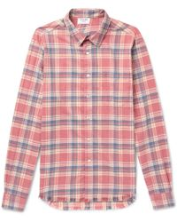 FRAME - Slim-fit Checked Flannel Shirt - Lyst