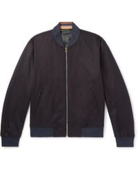 Paul Smith - Wool And Cashmere-blend Bomber Jacket - Lyst