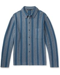 Haider Ackermann - Oversized Striped Wool And Cashmere-blend Shirt - Lyst