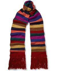Etro - Striped Cashmere Scarf - Lyst