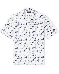 Theory - Daze Camp-collar Printed Cotton-poplin Shirt - Lyst