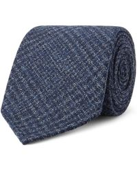 Drake's - 8cm Prince Of Wales Checked Wool Tie - Lyst