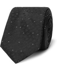Saint Laurent - 5cm Embroidered Pin-dot Silk-jacquard Tie - Lyst
