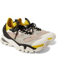 CALVIN KLEIN 205W39NYC - Mesh, Leather And Rubber-panelled Neoprene Trainers - Lyst