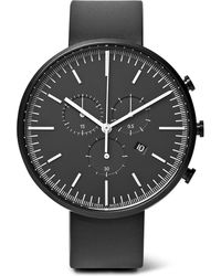 Uniform Wares - M42 Chronograph Pvd-coated Stainless Steel And Rubber Watch - Lyst